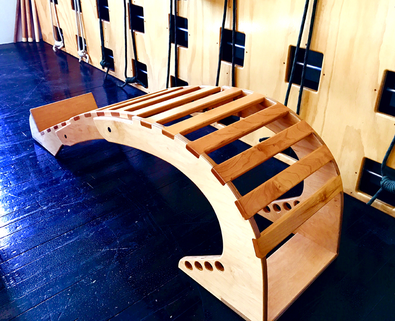 The folding backbender, made by James Lamis, my hubby.